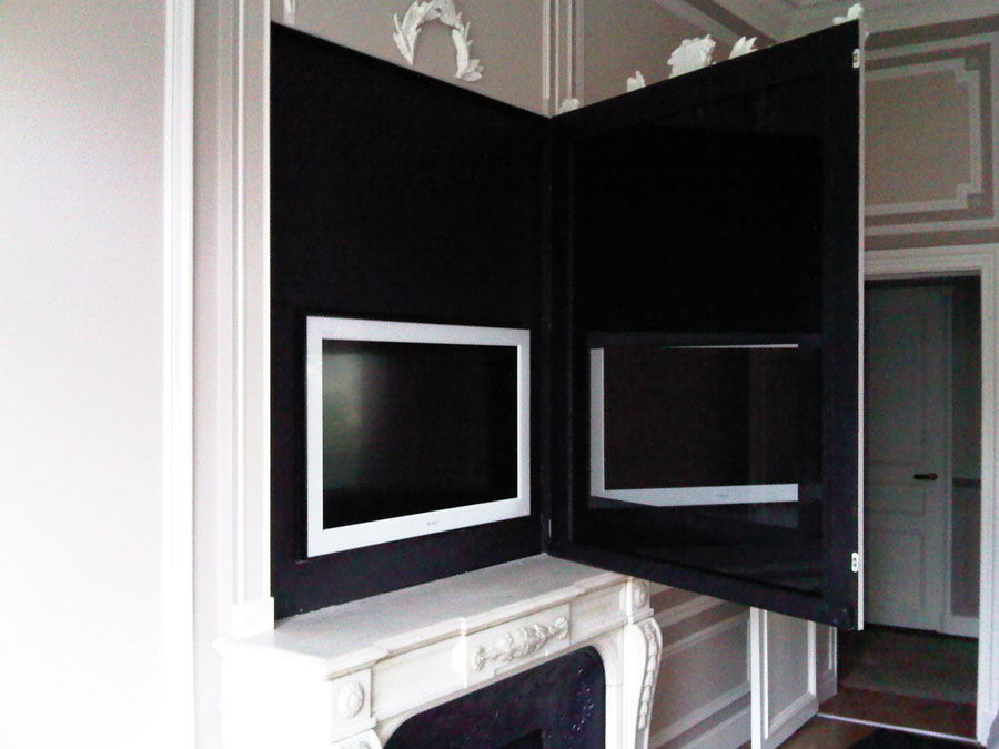 Les installations home cin ma audio et vid o blaack for Ecran miroir tv